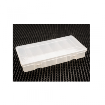 Plastic Hinged Box with 6 Compartments White 8-1/4 x 4-1/2 x 1-3/8 - 30