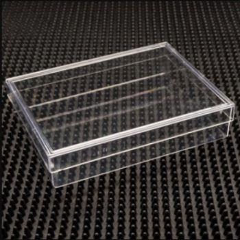 Clear Rigid Plastic Friction Fit Box Clear 5-5/8 x 4-1/4 x 1-1/8 - 100
