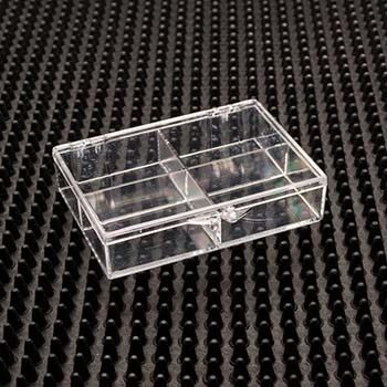 Rigid Plastic Hinged Box with 4 Compartments