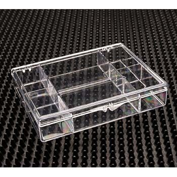 Rigid Plastic Hinged Box with 7 Compartments