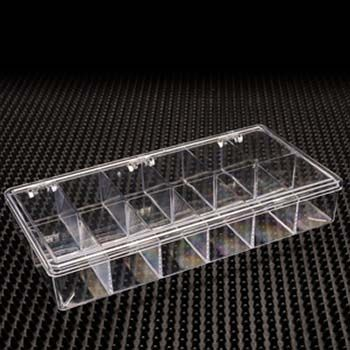 Rigid Plastic Hinged Box with 12 Compartments