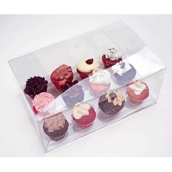 Clear Twelve Mini Cupcake Box with Insert