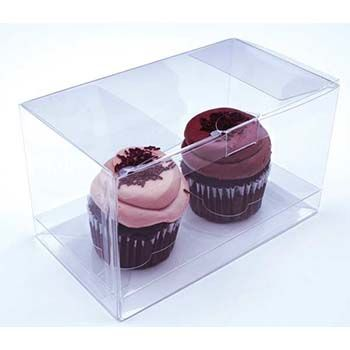 Clear Double Cupcake Box with Insert
