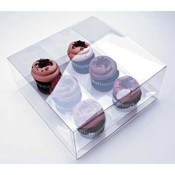 Clear Six Cupcake Box with Insert