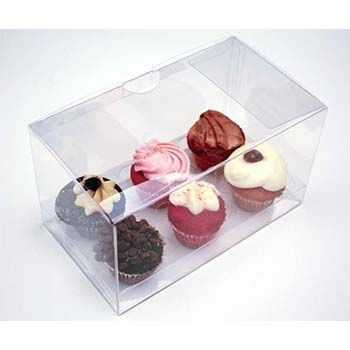 Clear Six Mini Cupcake Box with Insert