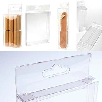 Clear Box with Hang Hole - One-Piece