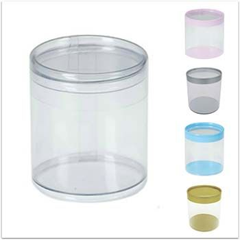 Clear Round PVC Box - Two-Piece