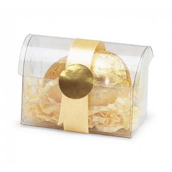 Clear Treasure Chest Clear 2-3/4 x 1-3/4 x 2 - 100