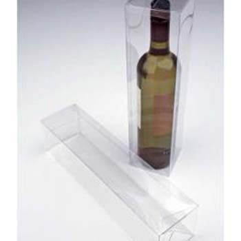 PET Wine Bottle Box with Pop and Lock Bottom