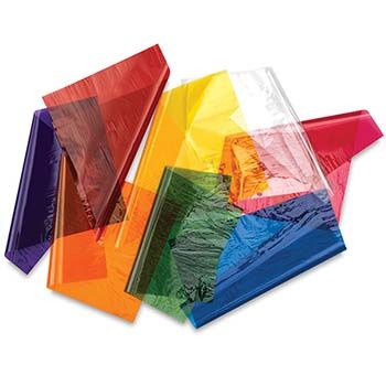 Colored Cellophane Sheets - MADE TO ORDER