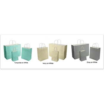 Colored Shopping Bag on White