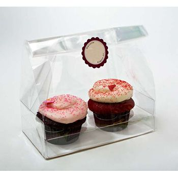 Clear Cupcake Bag for Double Cupcakes