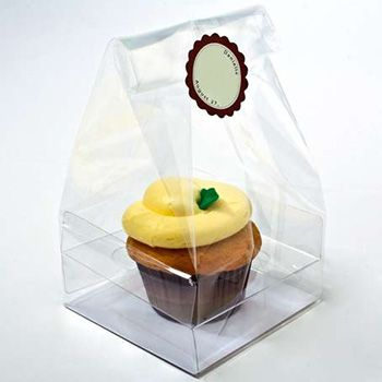 Clear Cupcake Bag for Single Cupcake
