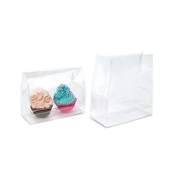 Clear Cupcake Bag for Double Mini Cupcakes