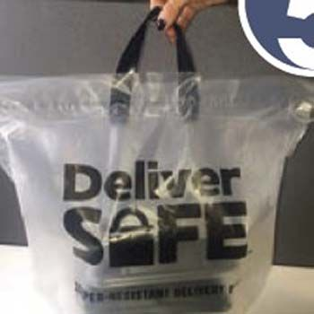 Tamper Evident Delivery Bag - Deliver Safe