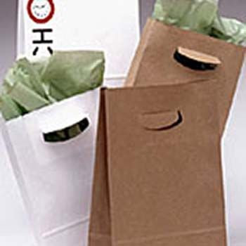 Diecut Handle Flat Bottom Paper Bags
