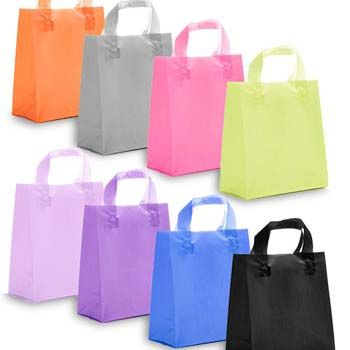 Frosted Colored Soft Loop Handle Bags