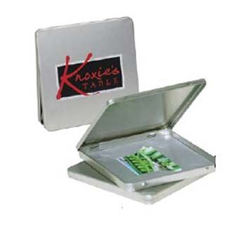 Square CD/DVD/Gift Card Tin w/ Hinge