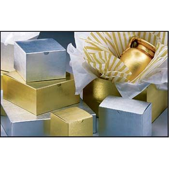 Gold/Silver Metallic Linen Gift Boxes