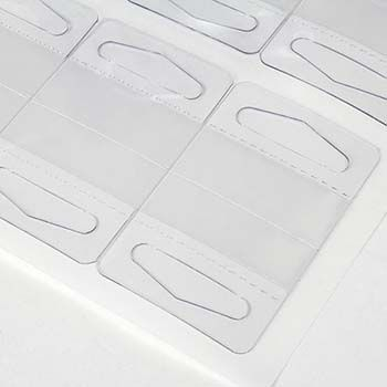 Clear Plastic Hang Tab