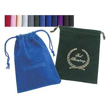 Rayo Velour Drawstring Bags