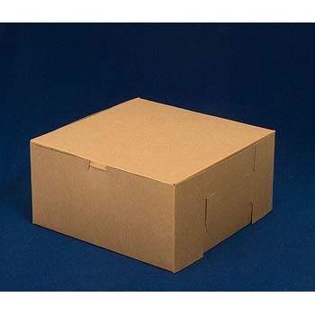 Kraft Bakery Box lock corner/glued corner - One-Piece