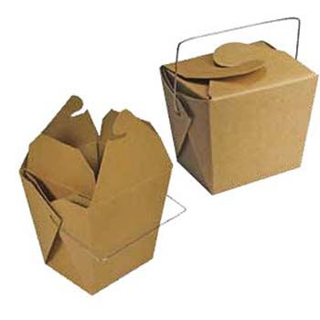 Chinese Take-out Containers - Kraft w/Handle