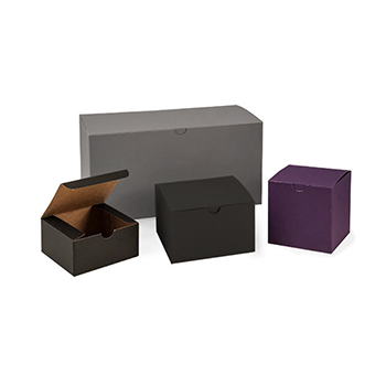 Matte Pinstriped Tuck Top Gift Boxes