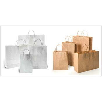 Paper Shopping Bags w/ Twisted Paper Handles