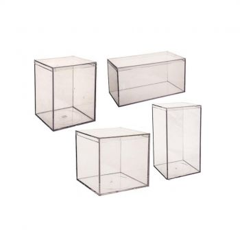 Clear Hard Plastic with Flush Lid