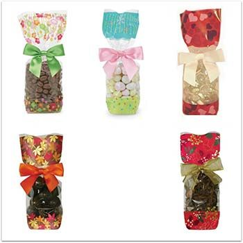 Printed Seasonal Hard Bottom Bags