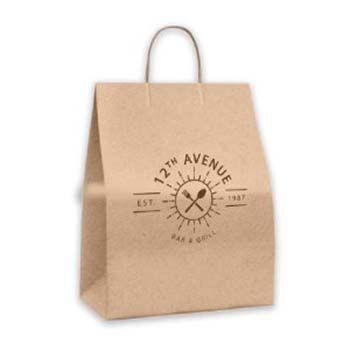 Tamper Evident Paper Shoppers - Peel & Seal