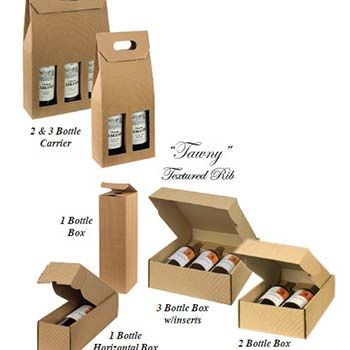 One Bottle Vertical Wine Box in Textured Rib