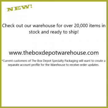 Check out our NEW online WAREHOUSE!  Shipping, Food Service, Industrial, Janitorial & More