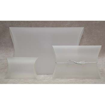 Clear Frosted Plastic Pillow Box Natural Frost 2-3/4 x 2-3/4 x 7/8 - 120