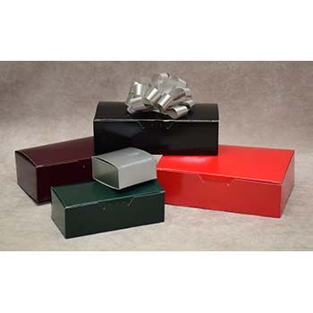 Glossy Colored Candy Boxes - One-Piece Box