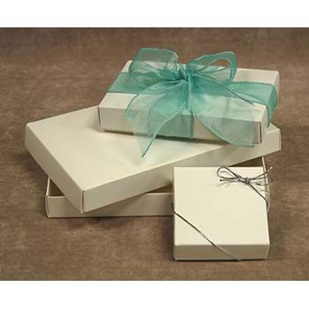 White Candy Boxes - Two-Piece