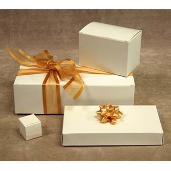 White Candy Boxes - One-Piece
