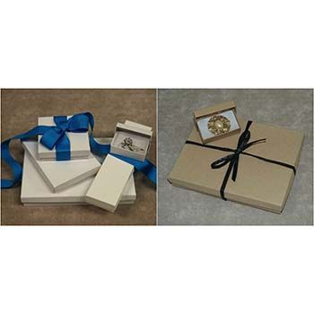 White and Kraft Jewelry Boxes