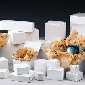 White Gift Boxes - One Piece Style